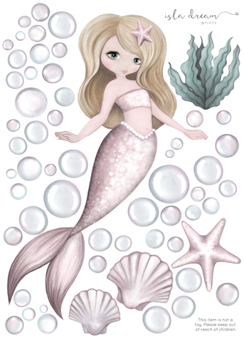 Isla Dream Prints - Wall Decals - Audrina Mermaid - Neapolitan Homewares