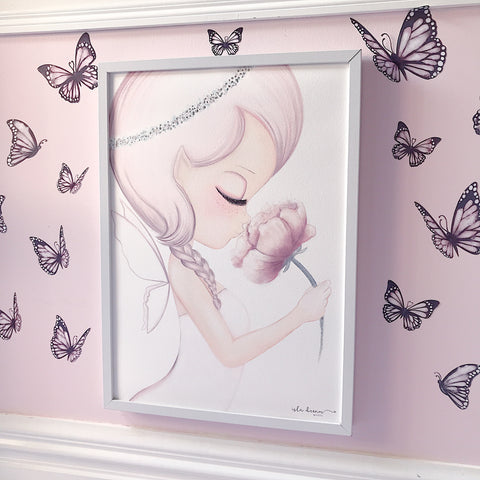 Isla Dream Prints - Wall Decals - Butterfly Pink - Neapolitan Homewares