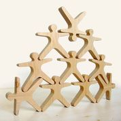 Fun Factory Wooden Balancing Acrobats (10 pc set)
