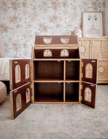 Junimoon Chateau Rattan Dolls House - PREORDER