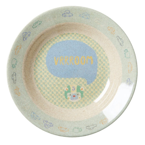 RICE Kids Bamboo Melamine Bowl - Race