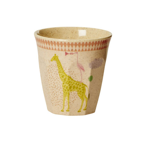 RICE Kids Bamboo Melamine Cup - Animal Print