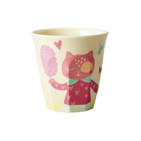 RICE Kids melamine cup - Girl Happy Camper - Neapolitan Homewares