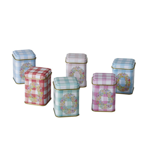 RICE Tin Spice Jars