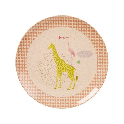 RICE Kids Bamboo Melamine Plate - Animal