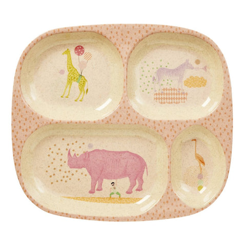 RICE Kids Bamboo Melamine Tray - Animal