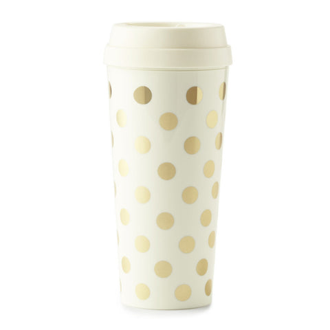 Kate Spade Thermal Mug - Gold Dots - Neapolitan Homewares