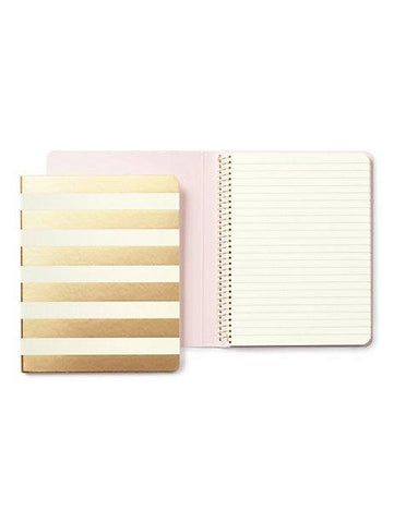 Kate Spade Spiral Notebook Gold Stripes - Neapolitan Homewares