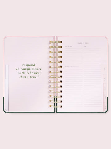 Kate Spade 2020 Medium Planner Colour Block - Neapolitan Homewares