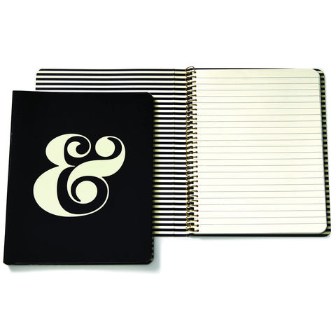 Kate Spade Spiral Notebook Black Ampersand