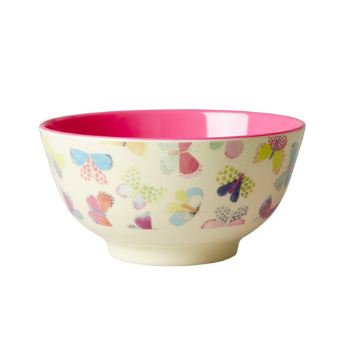 RICE melamine two tone bowl - Butterfly - Neapolitan Homewares