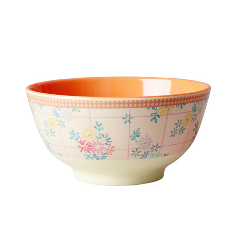 RICE melamine two tone bowl - Embroidery Flower - Neapolitan Homewares
