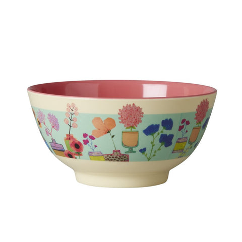 RICE melamine two tone bowl - Flower Display