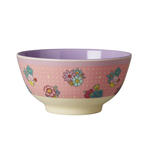 RICE melamine two tone bowl - Flower Stitch
