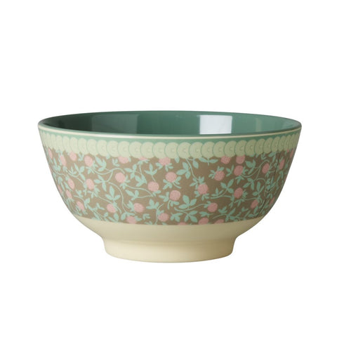RICE melamine two tone bowl - Mini Floral