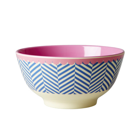 RICE melamine two tone bowl - Sailor Stripes-RICE-Neapolitan Homewares