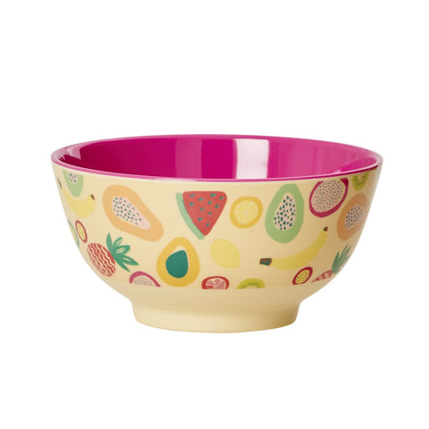 RICE melamine two tone bowl - Tutti Frutti - Neapolitan Homewares