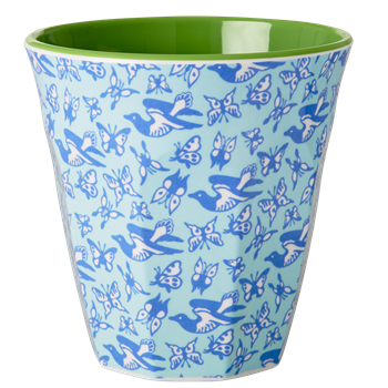RICE melamine two tone tumbler - Bird & Butterflies-RICE-Neapolitan Homewares