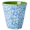 RICE melamine two tone tumbler - Bird & Butterflies - Neapolitan Homewares