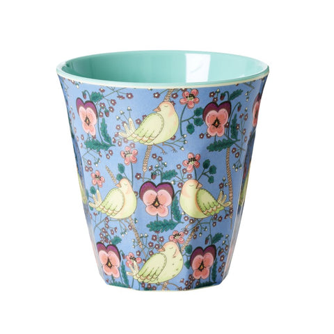 RICE melamine two tone tumbler - Bird & Pansy-RICE-Neapolitan Homewares