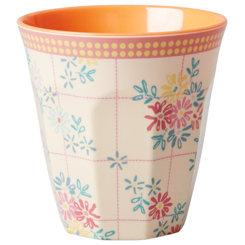 RICE melamine two tone tumbler - Embroidery Flower