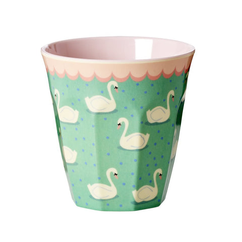 RICE melamine two tone tumbler - Swan - Neapolitan Homewares