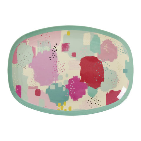 RICE melamine rectangular plate - SPLASH-RICE-Neapolitan Homewares