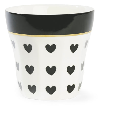Miss Etoile Shaped Mug Black Hearts - Neapolitan Homewares