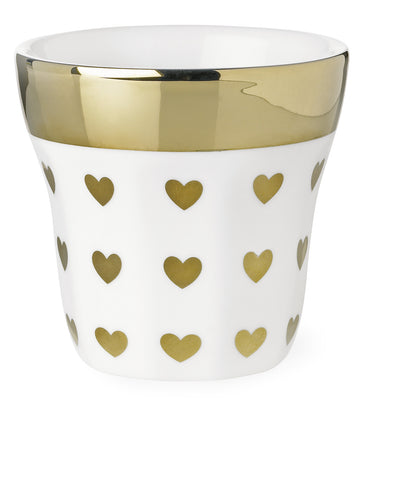 Miss Etoile Shaped Mug Gold Hearts - Neapolitan Homewares
