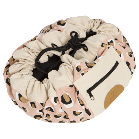 PlayPouch Mini Toys Storage - Leopard Gold - Neapolitan Homewares