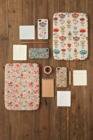 Mini labo iPad cover - flowers