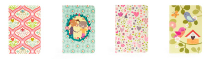 Mini Labo colourful print note book - Love