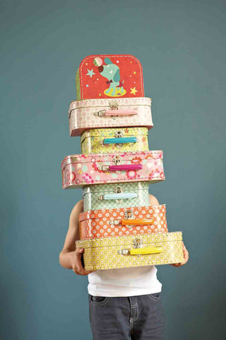 Mini Labo decorative and storage suitcases - Popette print. Set of 3 - Neapolitan Homewares