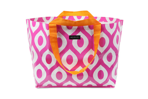 Mooleii Large Tote - Pink and White Swirl