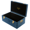 Petit Luxe Bebe Velvet Storage Case Set - Navy Blue - Neapolitan Homewares