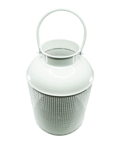 White metal lantern from Neapolitan Homewares