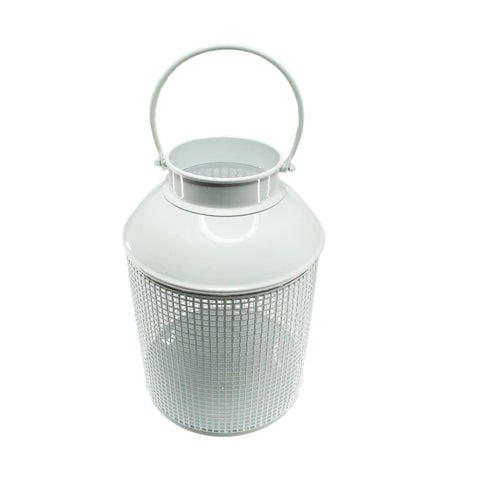 White small metal lantern from Neapolitan Homewares