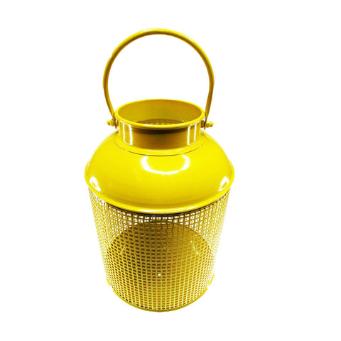 Hanging Metal Lantern - Small Yellow - Neapolitan Homewares