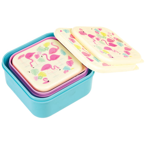Rex London Snack Boxes - Flamingo (set of 3) - Neapolitan Homewares