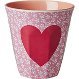 RICE melamine two tone tumbler - Pink Heart - Neapolitan Homewares