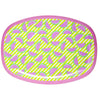 RICE melamine rectangular plate - Watermelon Pink
