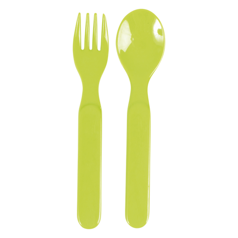 RICE Kids melamine fork & spoon. Assorted colours. - Neapolitan Homewares