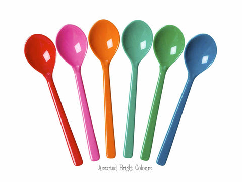 RICE melamine spoons - Assorted colours (set of 6)
