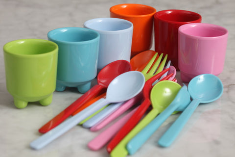 RICE Melamine Egg Cups set