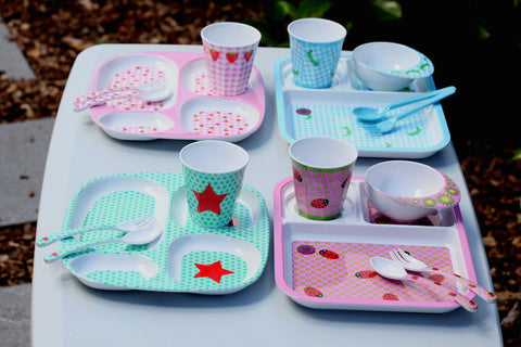 RICE Kids melamine tray - Red Star print-RICE-Neapolitan Homewares