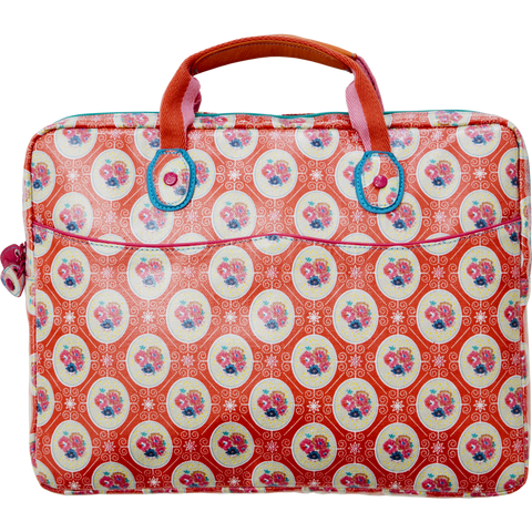RICE laptop bag - Rose frame-RICE-Neapolitan Homewares