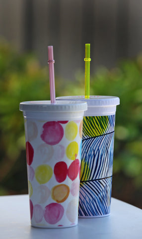 Ban.do Sip Sip Tumbler - Holiday Palm - Neapolitan Homewares