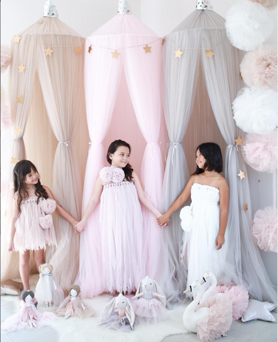 Spinkie Princess Canopy - Pink-Spinkie-Neapolitan Homewares