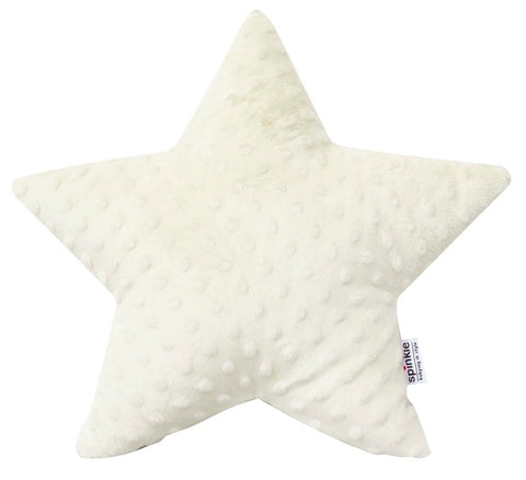 Spinkie Star Pillow - Ivory Minky-Spinkie-Neapolitan Homewares