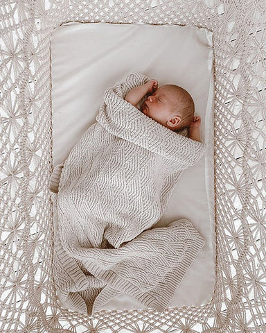 Bundl Organic Cotton Shell Stitch Blanket